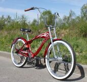Велочоппер Micargi Bicycles Falcon GT Burgundy 3 speed