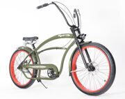 "Велосипед круизер Micargi Bicycles Royal 26"" green 3 speed"